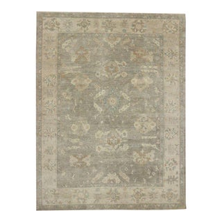 Transitional Area Rug with Oushak Design in Warm Colors