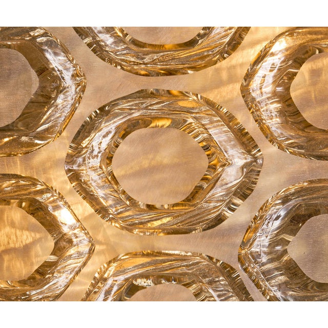 Glass Modernist Murano Glass Stamped Sconces - a Pair For Sale - Image 7 of 10