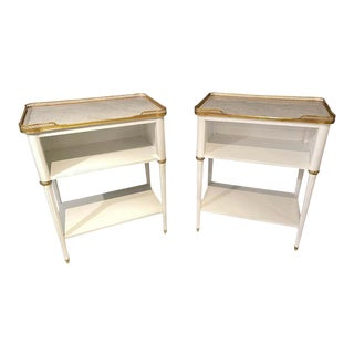 Swedish Neoclassical Open Nightstands or End Tables Manner Jansen - a Pair For Sale