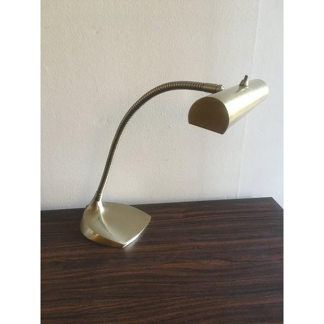 Mid-Century Brass Desk Lamp - Image 2 of 9