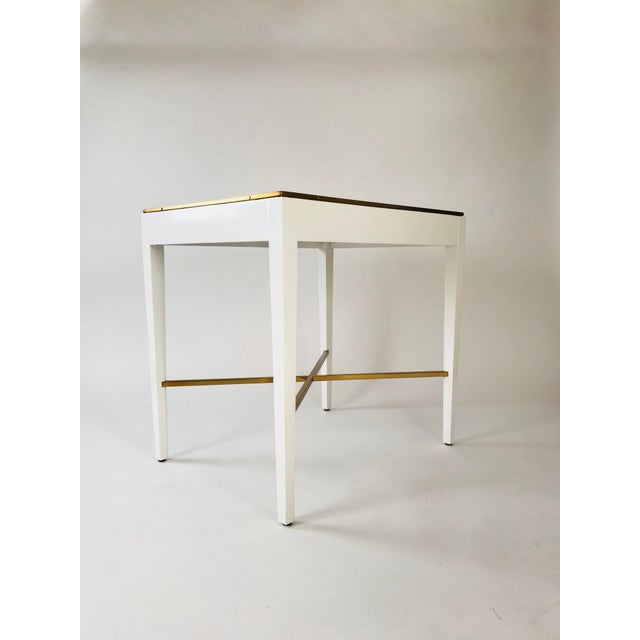 Georgian Modern History Georgian White End Table For Sale - Image 3 of 5