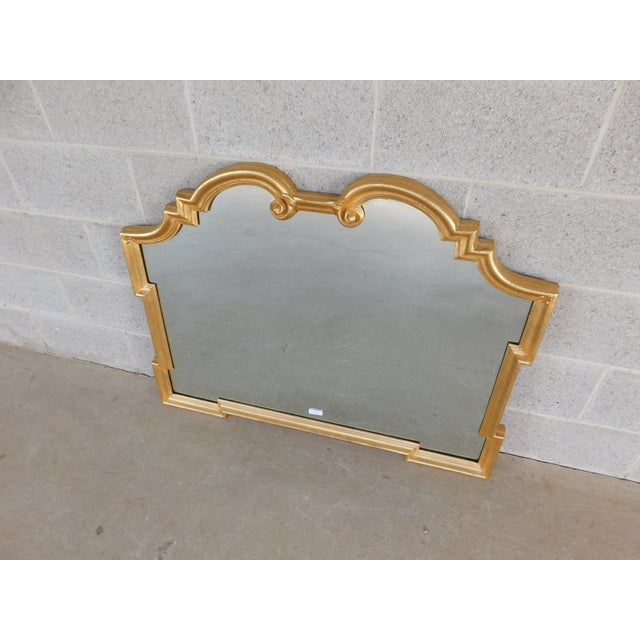 """Gold La Barge Italian Gilt Gold Wood Frame Mirror 42""""w X 32""""h For Sale - Image 8 of 8"""