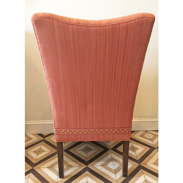 Modern Striae Cotton Side Chair For Sale - Image 4 of 10