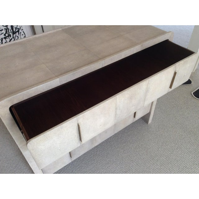R & Y Augousti Natural Shagreen 3-Drawer Commode For Sale In New York - Image 6 of 8