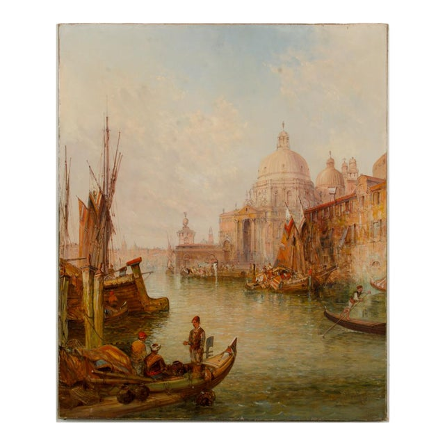 "19th Century ""Venice in July"" Cityscape Oil Painting by Alfred Pollentine For Sale"