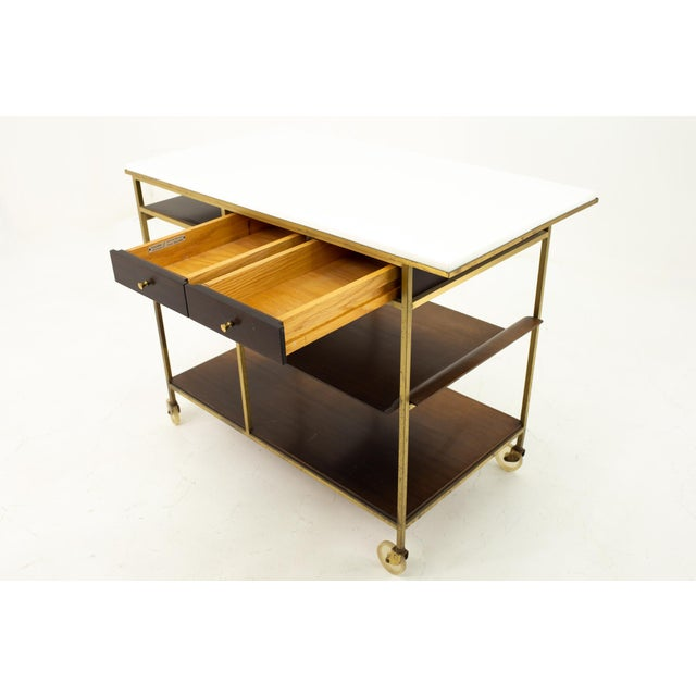 1960s Paul McCobb Mid Century Bar Cart For Sale - Image 5 of 10