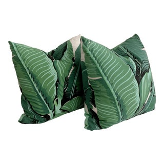 Vintage 1960s Swaying Palm Leaves Pillow- a Pair For Sale