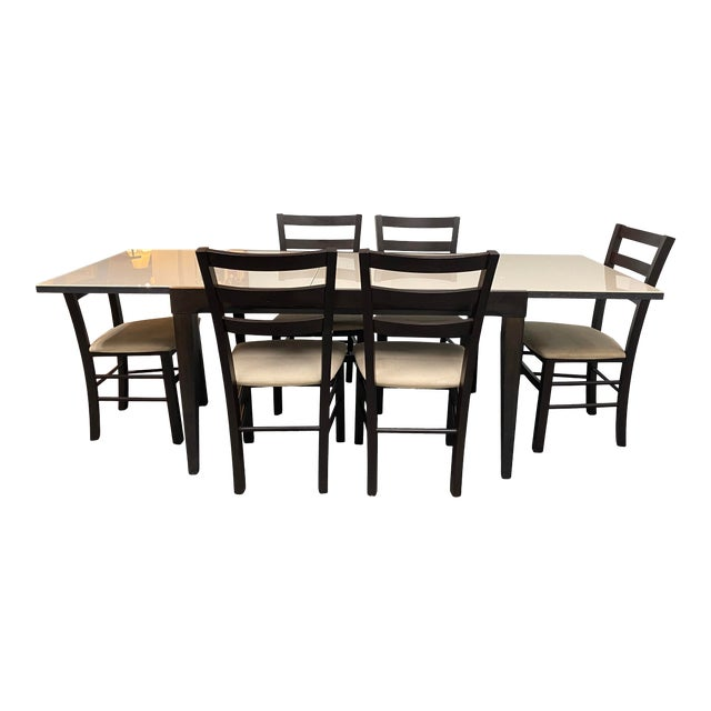 Calligaris Extendable Dining Table + Six Chairs Set For Sale