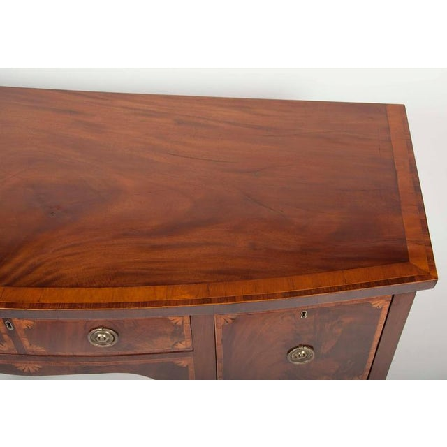 Fine George III Mahogany and Satinwood Inlaid Sideboard For Sale - Image 5 of 10