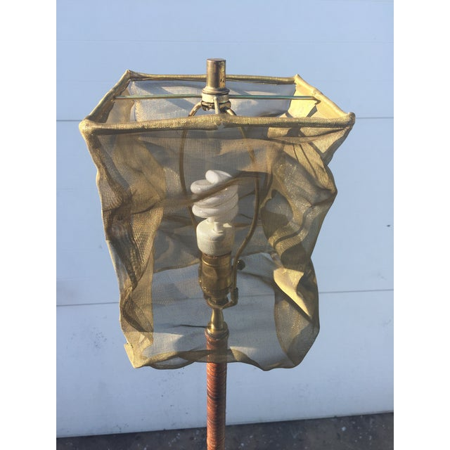 Vintage Floor Lamp With Screen Shade - Image 7 of 8