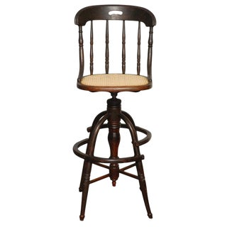 Revolving High Clerks Stool For Sale