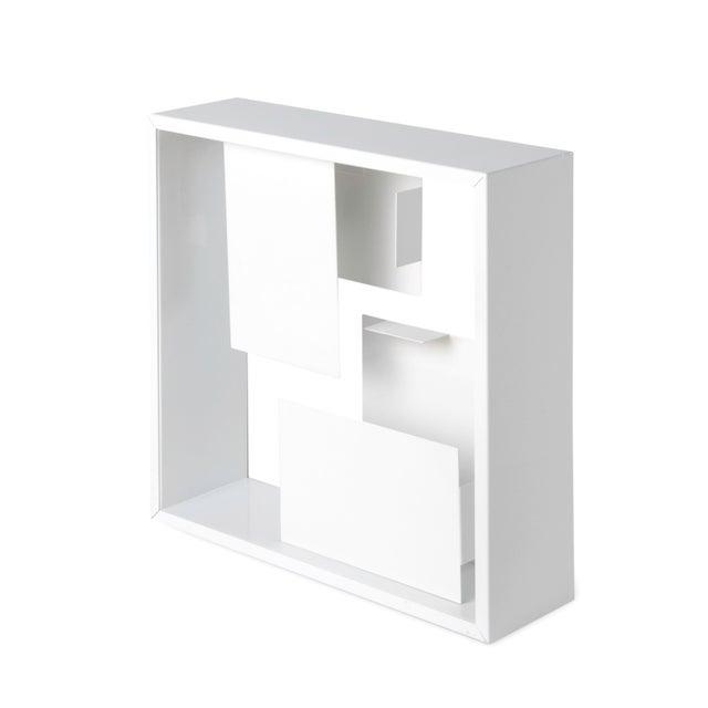 Artemide White Enameled Metal Table Lamp For Sale - Image 4 of 4
