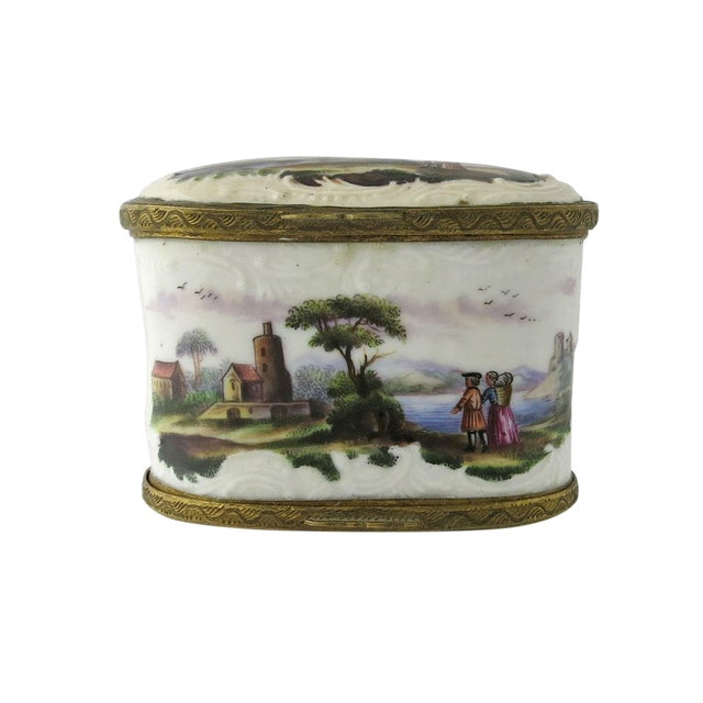 Mid 18th Century Vintage European Double Sided Enamel Snuff Box For Sale