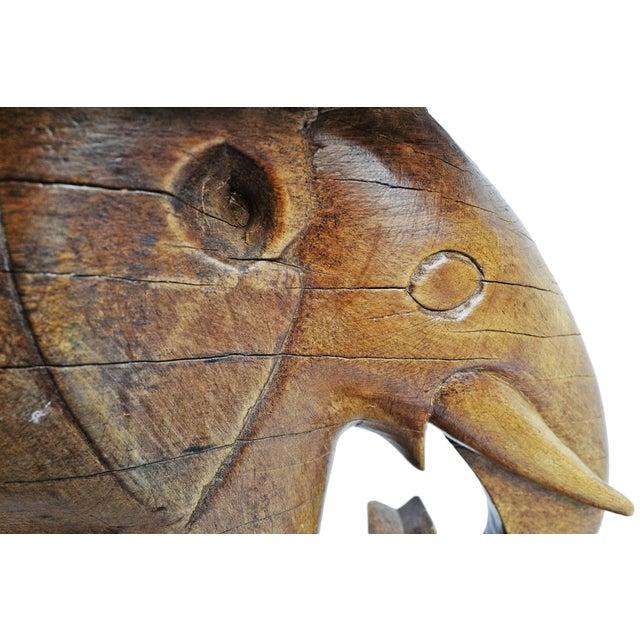 Wood Asante Ghana Elephant Stool For Sale - Image 7 of 8