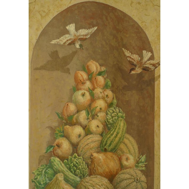 Italian Large 19th Century Italian Neoclassical Mural Style Canvas Painting For Sale - Image 3 of 5