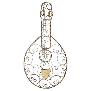 Wrought Steel Mandolin Wall Hanging For Sale