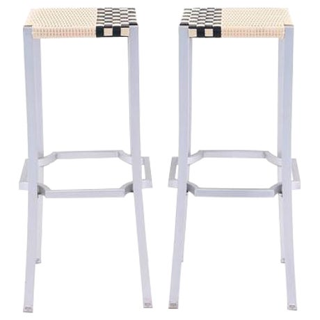 Philippe Starck One Cafe Indoor or Outdoor Bar Stools for Driade, Italy For Sale