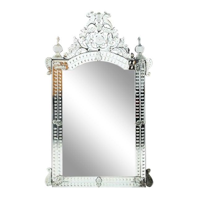 1940s Venetian Glass Mirror For Sale