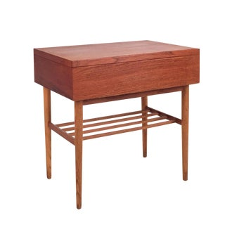 Vintage Danish Modern Teak & Oak Side Table