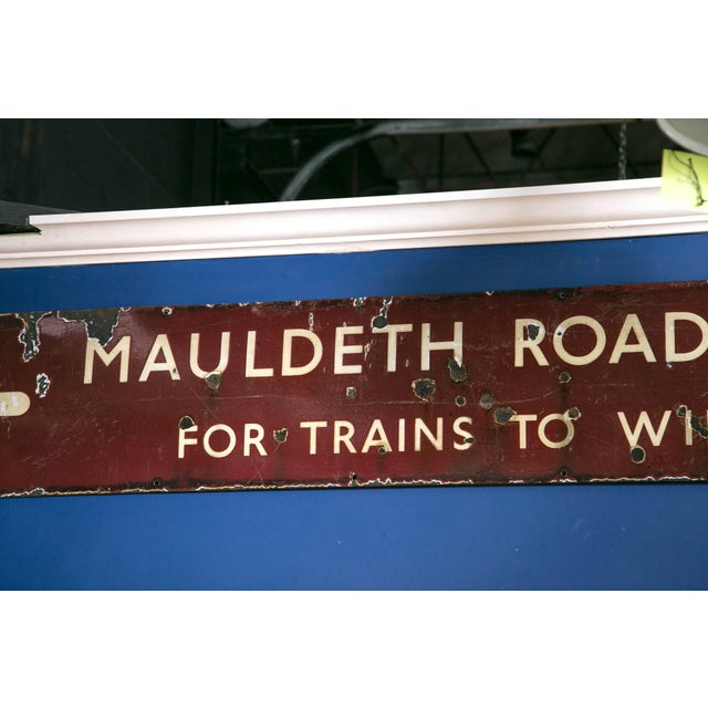 English Antique English Railway Sign For Sale - Image 3 of 6