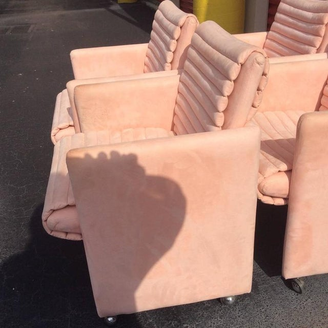 Vintage Milo Baughman Armchairs by Preview - Set of 4 - Image 4 of 12