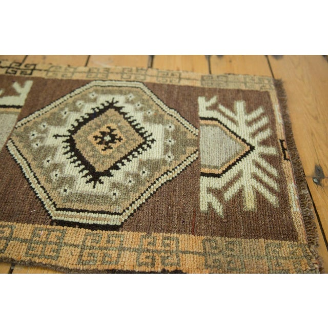 "Vintage Turkish Oushak Mat - 1'7"" x 2'3"" - Image 3 of 4"