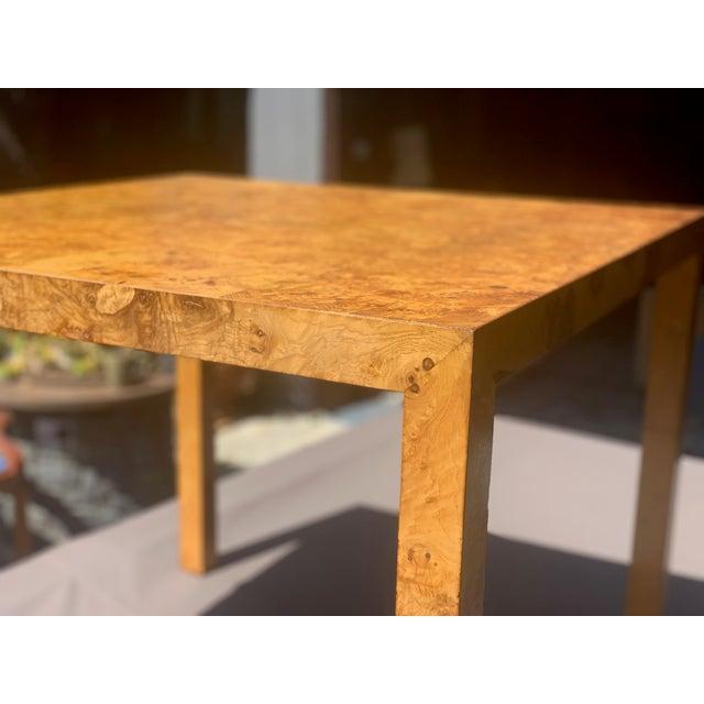 Mid-Century Modern Vintage Mid Century Modern Werner Kanner Burl Wood Table For Sale - Image 3 of 10