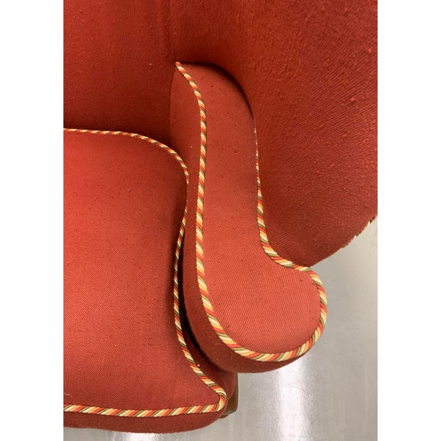 1990s Minton Spidell Papa Bear Upholstered Chair Sculptural Wingback Chair For Sale - Image 5 of 12