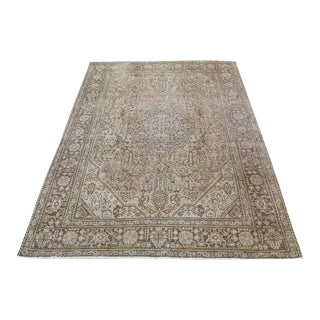 Persian Distressed Wool Hand-Knotted Rug - 6' X 8'6""