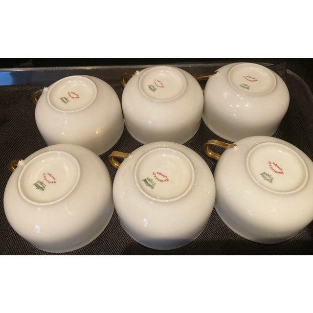 Haviland & Co. 1930s Haviland & Co Limoges France Porcelain Cups - Set of 6 For Sale - Image 4 of 9