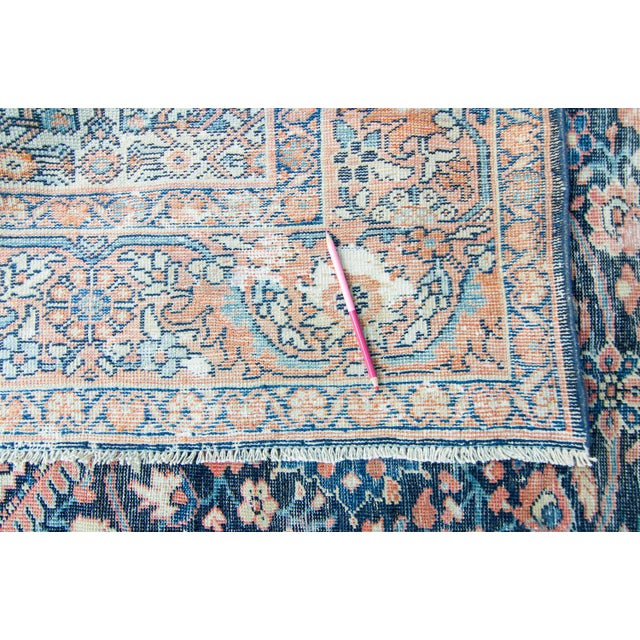 """Textile House of Séance - 1920s Vintage Mahal Geometric Medallion Wool Hand-Knotted Rug - 8'6"""" X 11'7"""" For Sale - Image 7 of 11"""
