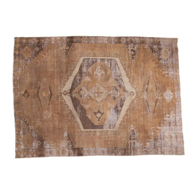 "Distressed Oushak Carpet - 7'10"" X 11' - Image 1 of 9"