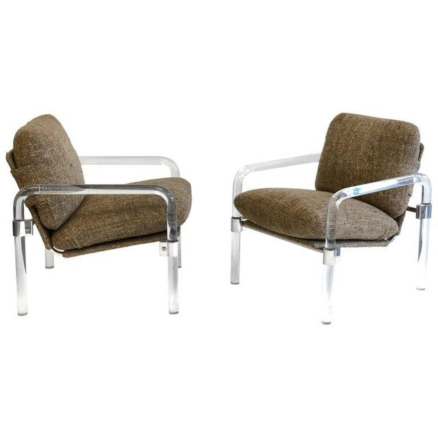 """""""Pipe Line Series 2"""" Acrylic and Chrome Lounge Chairs by Jeff Messerschmidt - a Pair For Sale - Image 11 of 11"""