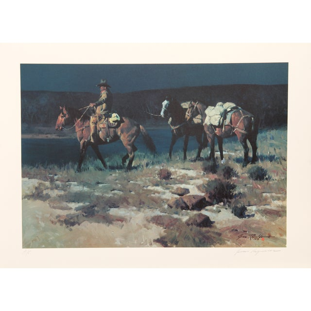 James Reynolds, Crossing the Verde, Lithograph For Sale