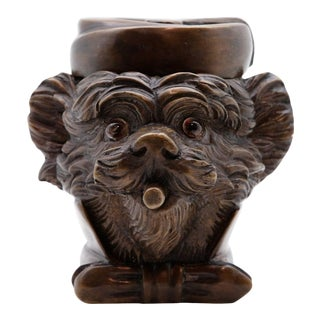 19th Century French Yorkie Tobacco Jar For Sale