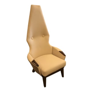 Vintage Restored Adrian Pearsall Style Highback Throne Chair For Sale