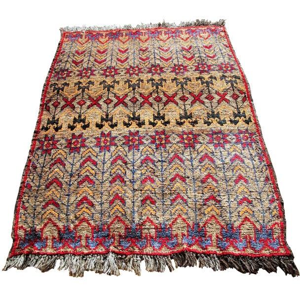 Vintage Brown Persian Tribal Rug - 2′8″ × 3′5″ - Image 1 of 6