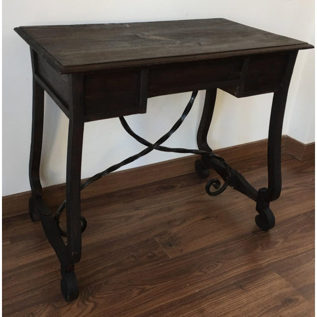Exceptional spanish 19th century side table with three for Table th width ignored