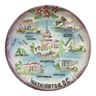 Vintage Washington,D.C. Raised Relief Souvenir Plate For Sale
