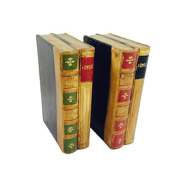 Faux Leather Ceramic Bookends- A Pair - Image 1 of 4