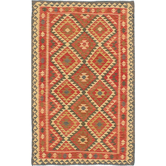 "Turkish Kilim Handmade Rug - 4'9"" x 7'11"" For Sale"