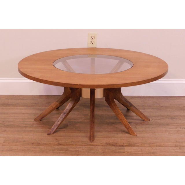 Broyhill Broyhill Brasilia Mid Century Modern Walnut Cathedral Coffee Table For Sale - Image 4 of 12