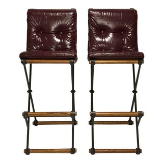 Mid Century Modern Terra Furniture Cleo Baldon Bar Stools - a Pair For Sale