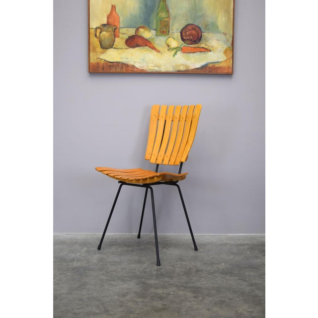 Mid-Century Modern Arthur Umanoff Raymor Mid-Century Slat Chairs, Set/4 For Sale - Image 3 of 9