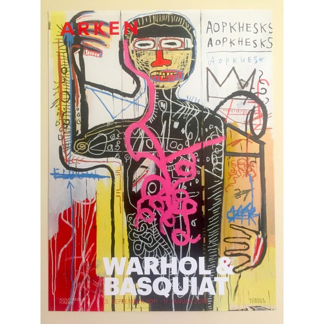 This original rare limited edition offset lithograph print poster commemorates an exhibition by The Arken Museum of Art in...