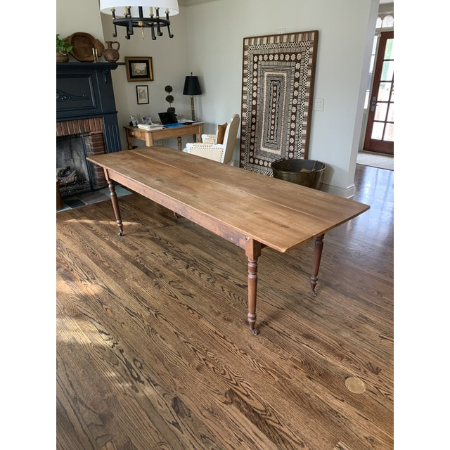 20th Century Farmhouse Dining Table For Sale - Image 11 of 11