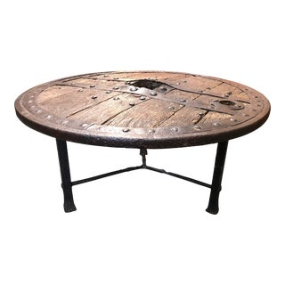 Antique Custom Wagon/Carriage Wheel Table For Sale