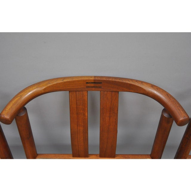 1960s Uldum Danish Modern Teak Curved Back Rosewood Inlay Dining Chairs - Set of 6 For Sale - Image 5 of 12