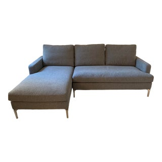 Modern Grey Sectional Sofa For Sale