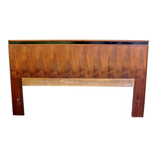 1960s Mid-Century Modern Merton Gerhsun for Dillingham Esprit Collection Queen Walnut Headboard For Sale